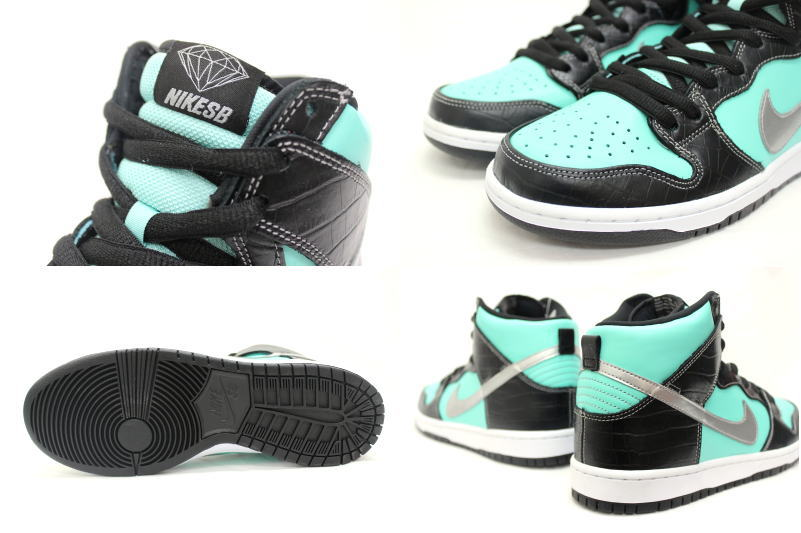 5996b512bf ... 653,599-400 NIKE X DIAMOND SUPPLY CO DUNK HIGH PREMIUM SB TIFFANY nike  dunk high