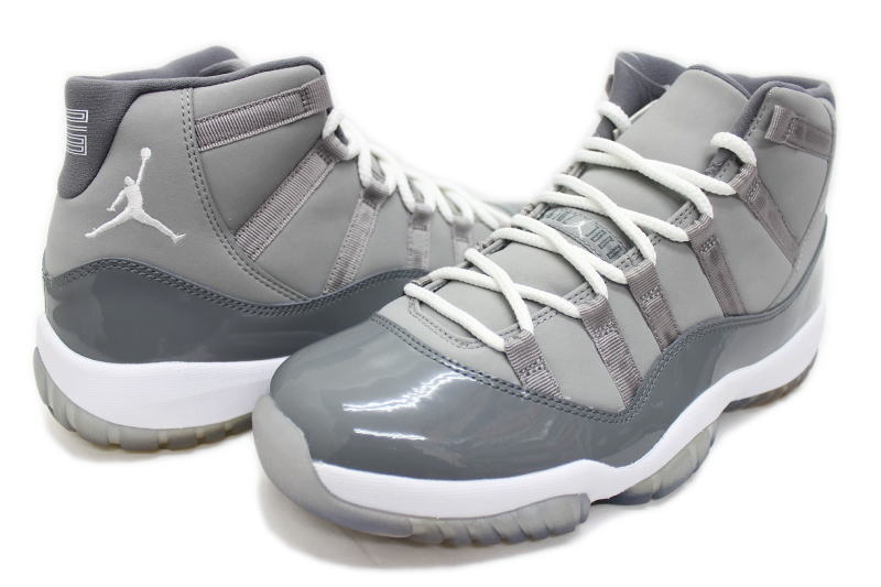 11 378,037-001 NIKE AIR JORDAN RETRO COOL GREY nike Air Jordan 11 nostalgic cool gray ash X white