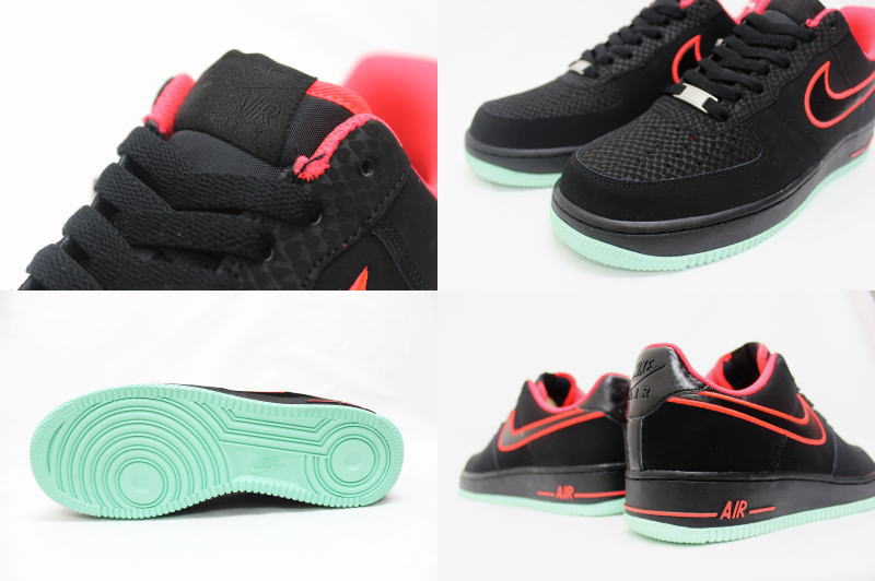 NIKE AIR FORCE 1 YEEZY 488,298 048 Nike Air Force One easy black X crimson