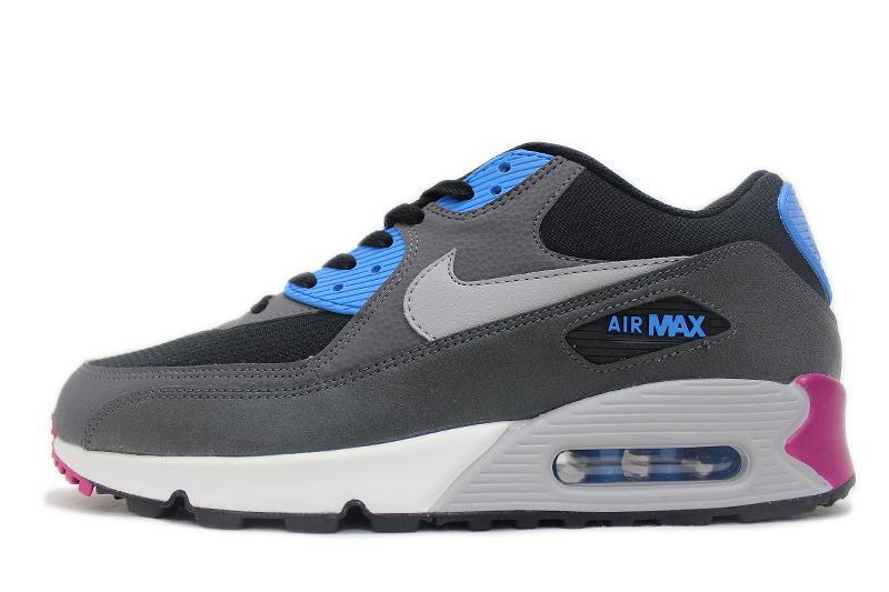 the best attitude a28c7 9e801 NIKE AIR MAX 90 ESSENTIAL black x blue x purple 537384-009 Nike Air Max  essential