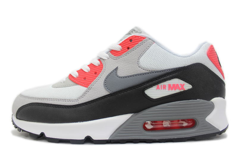 e1d26627c1 NIKE AIR MAX 90 ESSENTIAL white X gray X red 537,384-108 Kie Ney AMAX ...