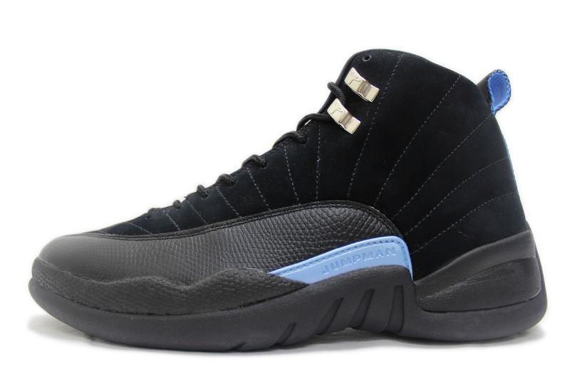d78a1312e0a NIKE AIR JORDAN 12 RETRO NUBUCK 130690-018 Nike Air Jordan 12 retro nubuck  black   light blue