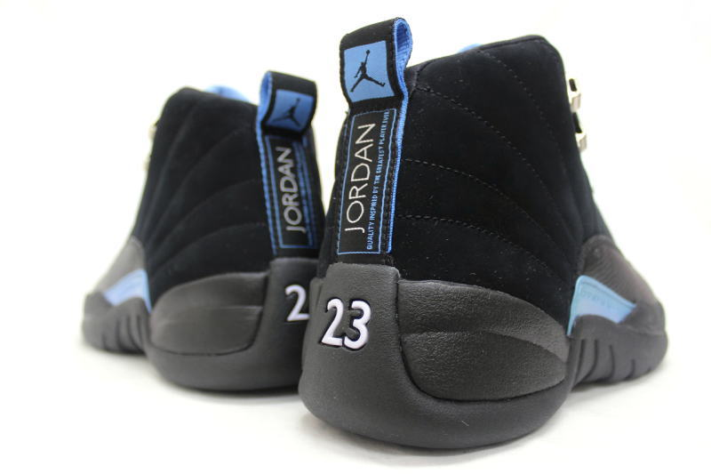 hot sale online 3c9d1 01a70 ... NIKE AIR JORDAN 12 RETRO NUBUCK 130690-018 Nike Air Jordan 12 retro  nubuck black ...