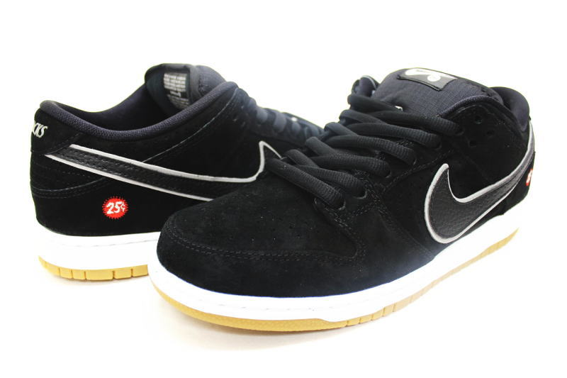 313,170-019 NIKE DUNK LOW PREMIUM SB QUARTERSNACKS nike dunk low premium S  B quarter snacks black X gum black