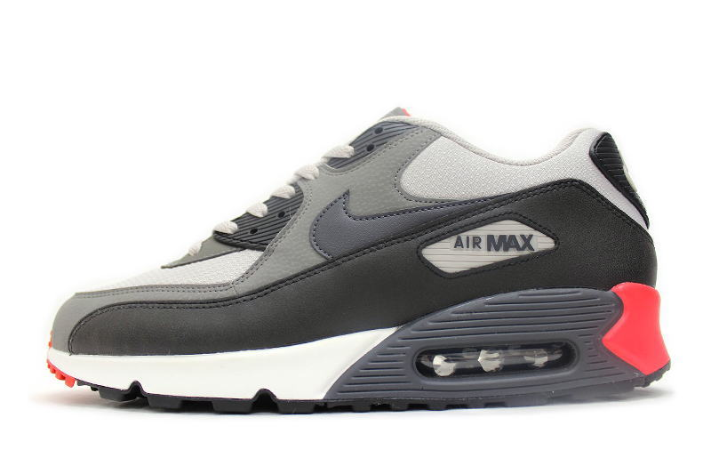 brand new b4e01 73157 NIKE AIR MAX 90 ESSENTIAL gray  red 537384-022 Nike Air Max essential
