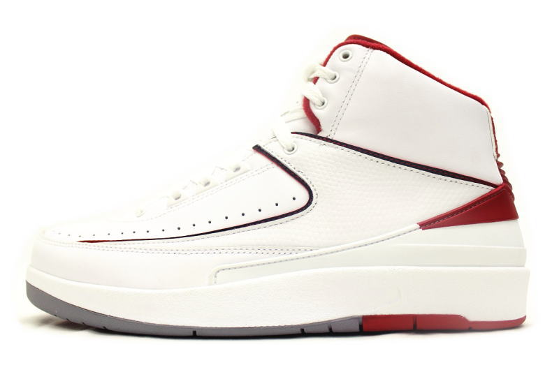 1d744aa1800 2 NIKE AIR JORDAN RETRO white X red 385,475-102 nike Air Jordan 2 is ...