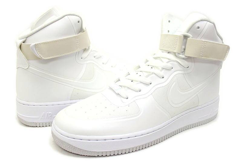 fdf3858a26ed NIKE AIR FORCE 1 HI HYP PRM WHITE 454433-100 high Nike air force one  premium PREMIUM white hyper fuse