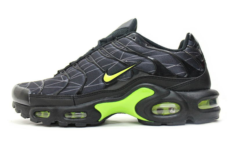 NIKE AIR MAX PLUS TXT EU another Foot Locker note Black × Yellow x ash  647315-070 Nike Air Max plus textiles European FOOT LOCKER international  limited