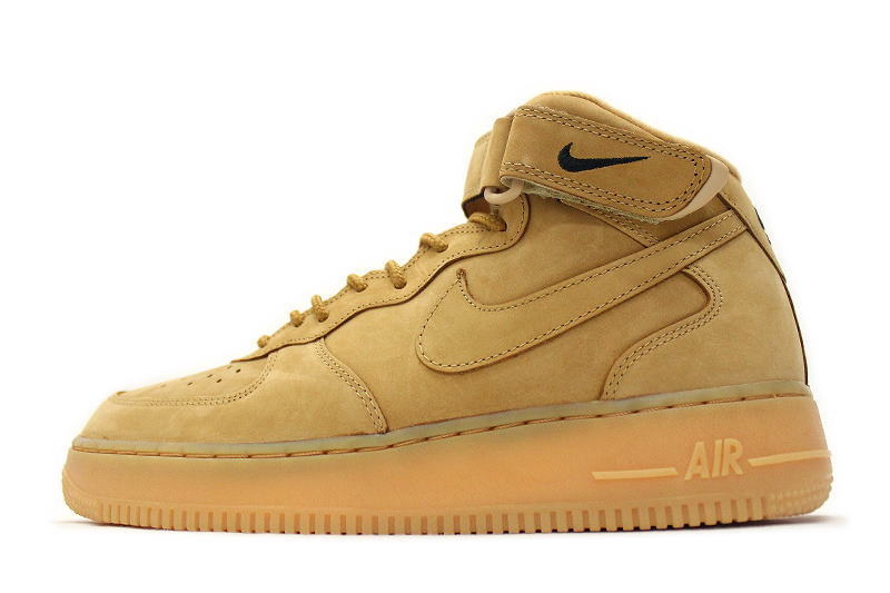 NIKE AIR FORCE 1 MID   07 PRM QS WHEAT 715889-200 Nike air force mid  PREMIUM premium wheat FLAX flux 74759bc47