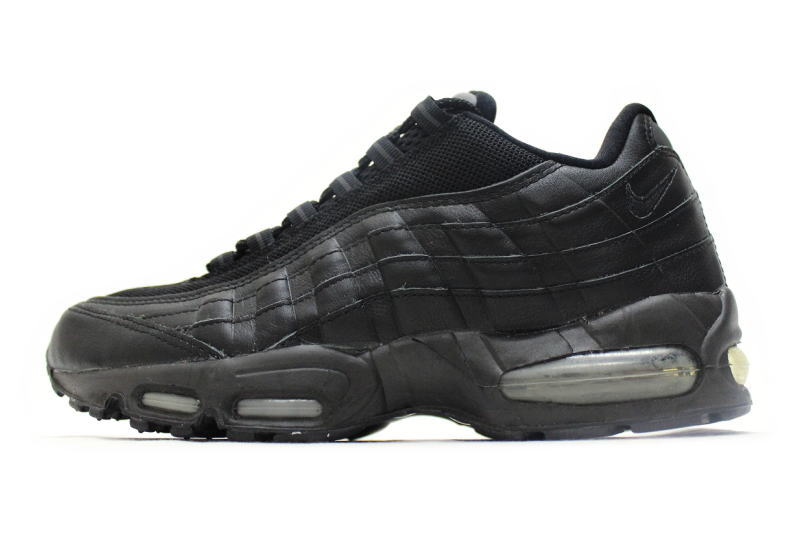 NIKE AIR MAX 95 black 609048 001 Nike Air Max 95 black leather