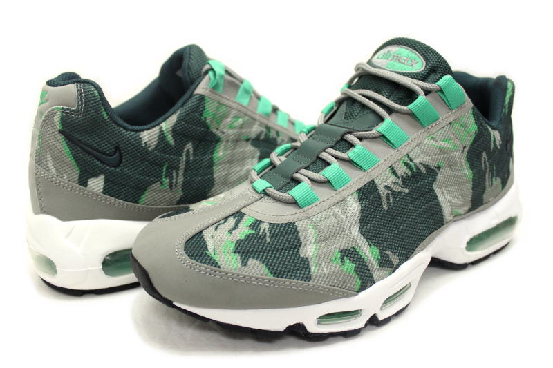 NIKE AIR MAX 95 PRM TAPE green duck 599,425 030 Kie Ney AMAX 95 premium tape camouflage green