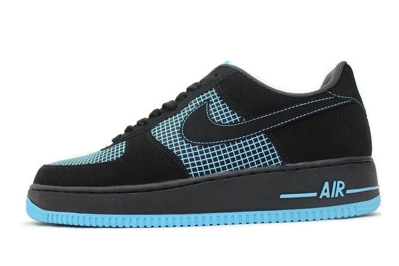 on sale 6583c abcd1 NIKE AIR FORCE 1 black x gamma blue 488298-073 BLUE Nike air force one ...