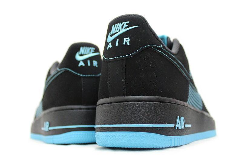 premium selection 47bcf 314fd ... NIKE AIR FORCE 1 black x gamma blue 488298-073 BLUE Nike air force one  ...