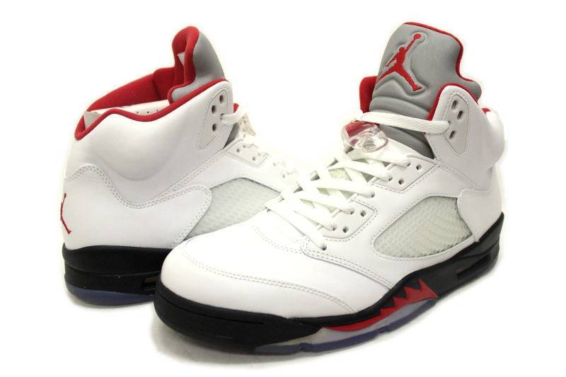 hot sale online 7e4f8 32c18 NIKE AIR JORDAN 5 RETRO FIRE RED 136027-100 silver tongue fire red Nike Air  Jordan 5 retro