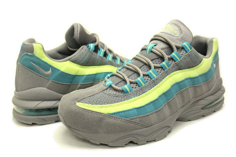 NIKE WMNS AIR MAX 95 WM gray * yellow x green 336620 009 Nike women's Air Max 95 overseas limited