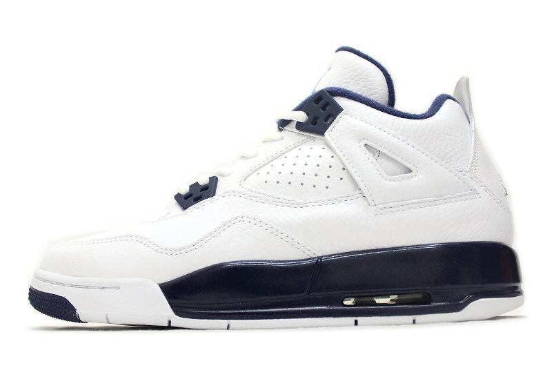 hot sales f5ce8 588bb NIKE AIR JORDAN 4 RETRO BG LEGEND BLUE 408452-107 legend blue Colombia  COLUMBIA GS women's Nike Air Jordan 4 retro