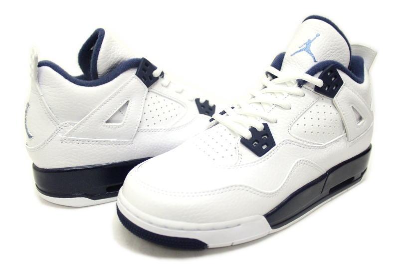 huge discount 6b133 7995c NIKE AIR JORDAN 4 RETRO BG LEGEND BLUE 408452-107 legend blue Colombia  COLUMBIA GS women s Nike Air Jordan 4 retro