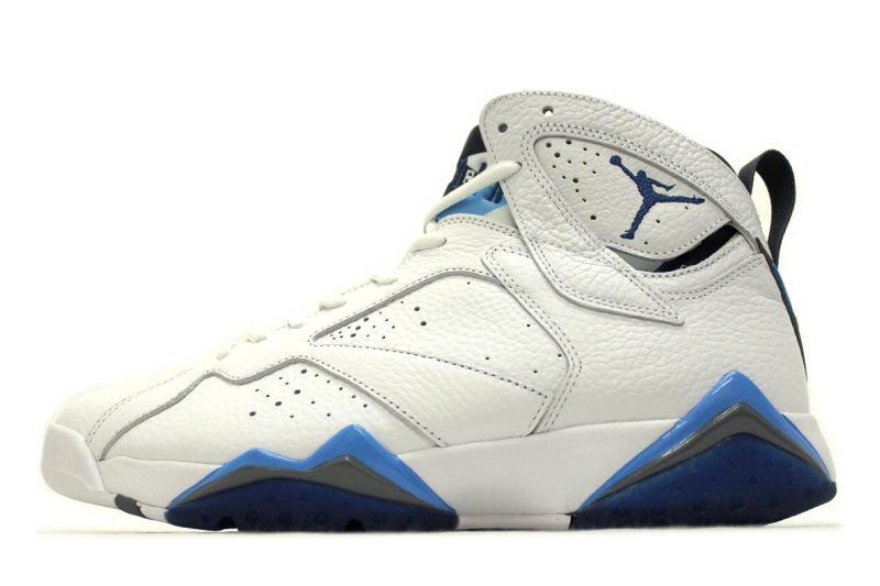40b715bb292d NIKE AIR JORDAN 7 RETRO FRENCH BLUE 304775-107 Nike Air Jordan 7 retro  French blue white x blue