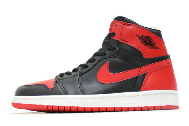 super popular 3e211 5cf11 NIKE AIR JORDAN 1 RETRO black X red 2001 reproduction 136,066-061 Nike Air  Jordan 1 nostalgic BRED bread OG