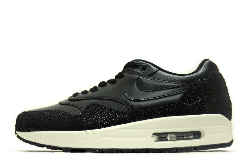 e4905328a675a NIKE AIR MAX 1 LEATHER PA BLACK PREMIUM PACK 705007-001 Nike Air Max Wan  leather black Premium Pack