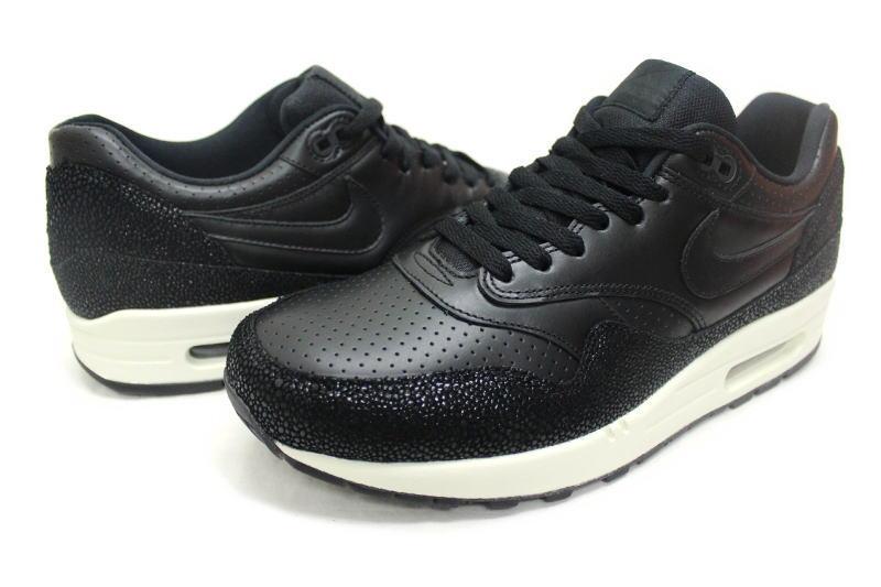 NIKE AIR MAX 1 LEATHER PA BLACK PREMIUM PACK 705007 001 Nike Air Max Wan leather black Premium Pack