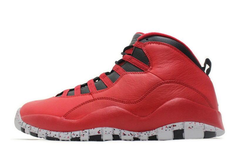 73dd4301d507 NIKE AIR JORDAN 10 RETRO 30TH BULLS OVER BROADWAY GYM RED 705178-601 Nike  Air Jordan 10 retro Jim Redd