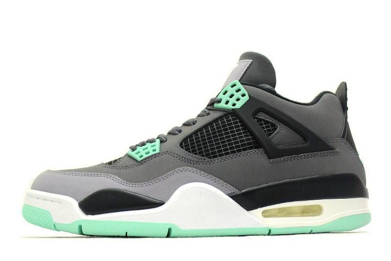 41f0051c94da NIKE AIR JORDAN 4 RETRO GREEN GLOW 308497-033 Nike Air Jordan 4 retro green  glow