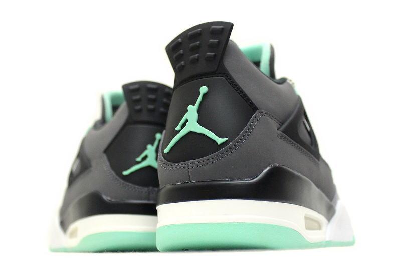 sports shoes 41450 c4466 NIKE AIR JORDAN 4 RETRO GREEN GLOW 308497-033 Nike Air Jordan 4 retro green  glow