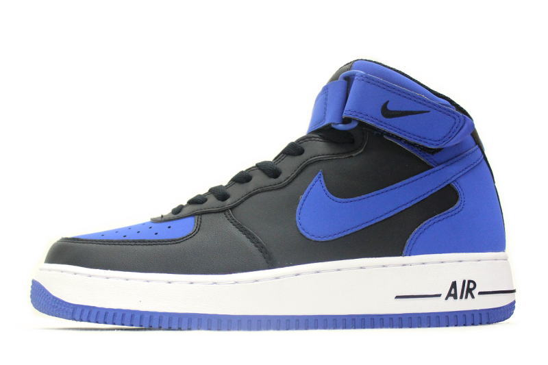 online store 87ffd 9e84c NIKE AIR FORCE 1 MID   07 black x blue 315123-027 Nike air force one mid