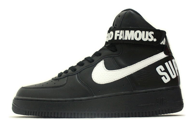 newest b0a63 01a3e NIKE AIR FORCE 1 HIGH SUPREME SP black 698696-010 Nike air force one high  ...