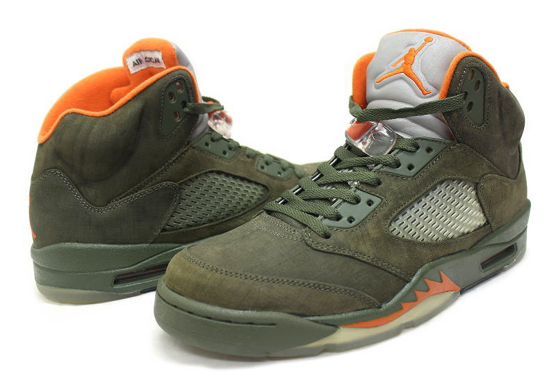 9b4289d041e969 NIKE AIR JORDAN 5 RETRO LS ARMY OLIVE 314259-381 Nike Air Jordan 5 retro  army olive overseas limited