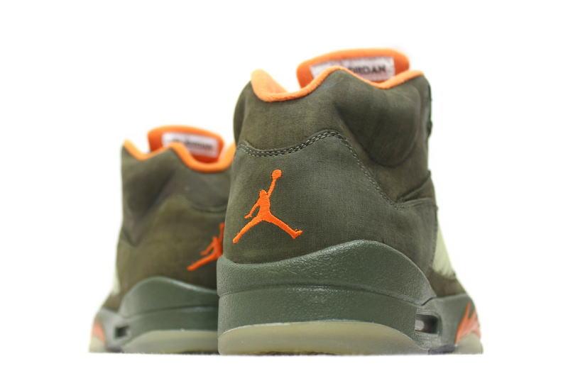 4840e9e2470 NIKE AIR JORDAN 5 RETRO LS ARMY OLIVE 314259-381 Nike Air Jordan 5 retro  army olive overseas limited