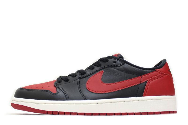 NIKE AIR JORDAN 1 RETRO LOW OG BRED 705329-001 Nike Air Jordan 1 retro low  bled black x Red 352fccd49