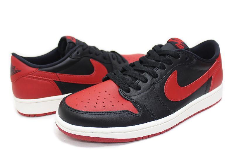 58f72ff5f6c040 NIKE AIR JORDAN 1 RETRO LOW OG BRED 705329-001 Nike Air Jordan 1 retro low  bled black x Red