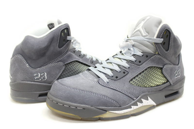 finest selection 53923 d78f1 NIKE AIR JORDAN 5 RETRO WOLF GREY 136027-005 Nike Air Jordan retro 5 Wolf  grey