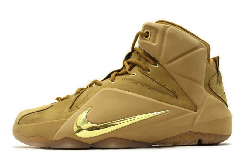 on sale 27fdd 3ef31 NIKE LEBRON XII EXT QS WHEAT 744287-700 Nike LeBron 12 wheat ...