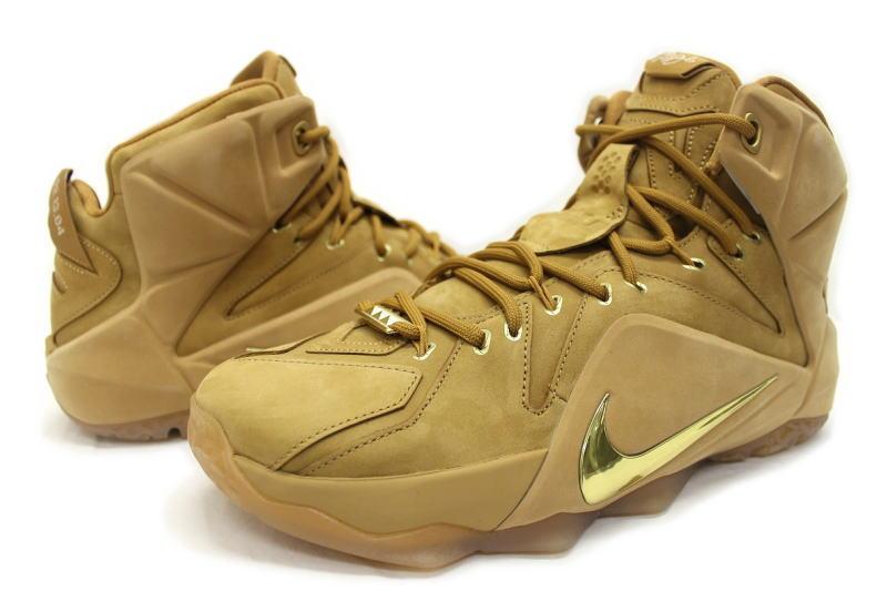 4a940eaaffe0 auc-soleaddict  NIKE LEBRON XII EXT QS WHEAT 744287-700 Nike LeBron ...