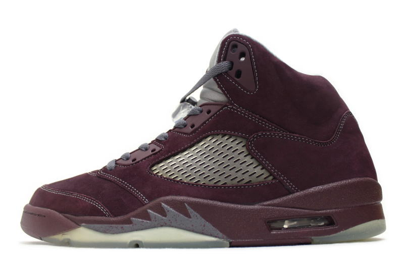 c7cd8d0f73cc06 NIKE AIR JORDAN 5 RETRO LS BURGUNDY 314259-602 Nike Air Jordan 5 retro  Burgundy overseas limited