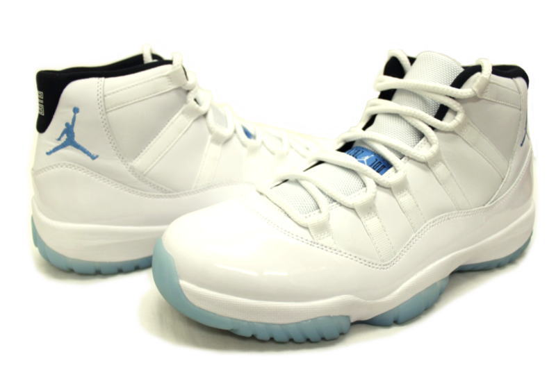on sale b957f a67ff NIKE AIR JORDAN 11 RETRO LEGEND BLUE 378037-117 Nike Air Jordan 11 retro  blue legend Colombia COLUMBIA White x North
