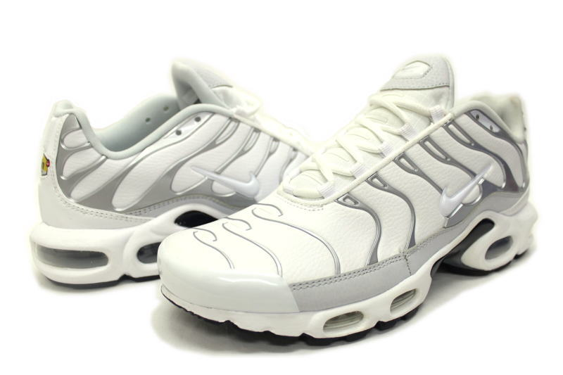 NIKE AIR MAX PLUS WHITE PURE PLATINUM 604,133 199 Kie Ney AMAX positive white X silver leather foreign countries limitation
