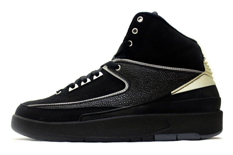 NIKE AIR JORDAN 2 RETRO CHROME 308308-001 Nike Air Jordan 2 retro Black    Chrome silver 32ca4a4fa