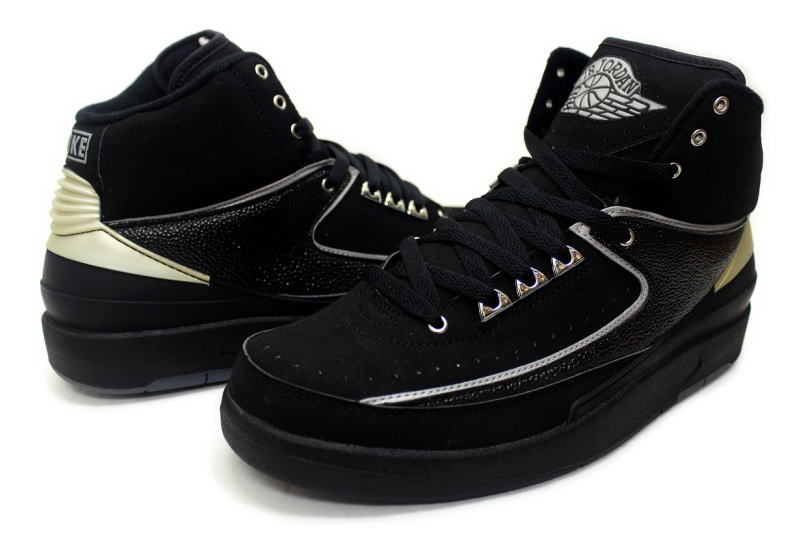 finest selection 3709d 35daa NIKE AIR JORDAN 2 RETRO CHROME 308308-001 Nike Air Jordan 2 retro Black /  Chrome silver
