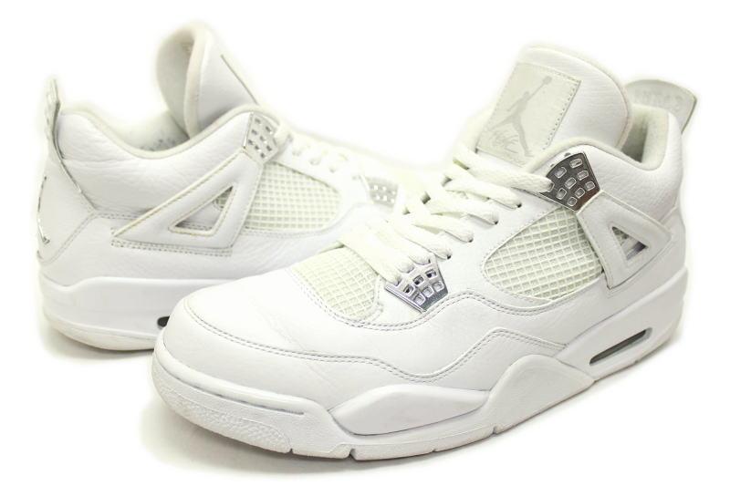 detailed look 13c2c 41095 NIKE AIR JORDAN 4 RETRO 25th SILVER ANNIVERSARY 408202-101 Nike Air Jordan  4 retro 25th anniversary of PURE
