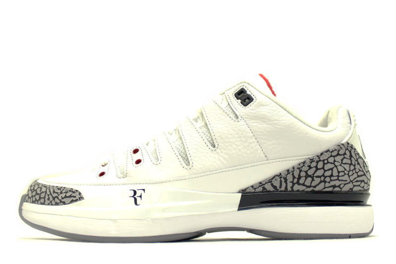 new product 07f34 7ec20 NIKE ZOOM VAPOR AJ3 WHITE CEMENT 709998-160 Nike zoom Vesper Air Jordan 3  white cement Roger Federer