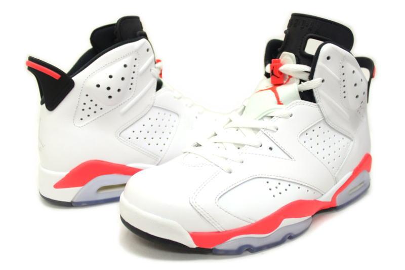 pretty nice 693a8 eb092 NIKE AIR JORDAN 6 RETRO white / 384664-123, infra red Nike Air Jordan 6  retro INFRARED Sakuragi hanamichi's color
