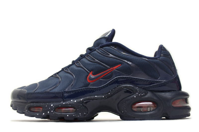 reputable site 574cb 3f5ad NIKE WMNS AIR MAX PLUS NAVY 605112-403 Nike women's Air Max plus Navy blue  x red overseas limited