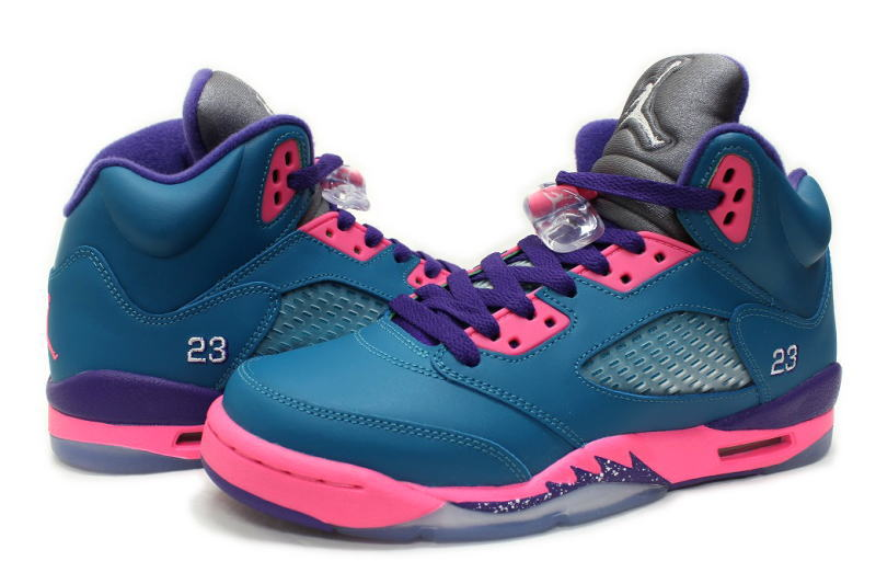 separation shoes 3b1f3 97bef NIKE GIRLS AIR JORDAN 5 RETRO GS-440892-307, TEAL TROPICAL tropical tile GS  Womens, Nike Air Jordan 5 retro