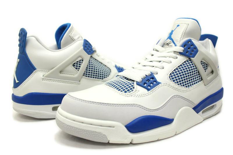 best website ac7c8 18f00 ... NIKE AIR JORDAN 4 RETRO MILITARY BLUE 308497-141 Nike Air Jordan retro  4 military ...