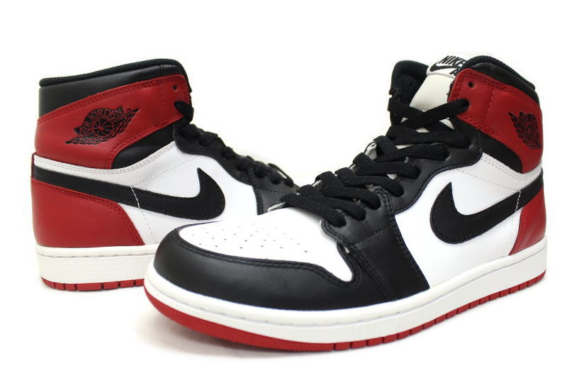 fecf93f3e701 NIKE AIR JORDAN 1 RETRO HIGH OG BLACK TOE 555088-184 Nike Air Jordan 1 retro  high black toes