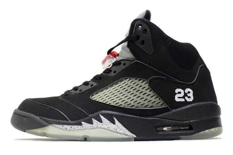 eacfdf32107223 NIKE AIR JORDAN 5 RETRO BLACK SILVER   23 136027-004 Nike Air Jordan 5 retro  Black   Silver numbering